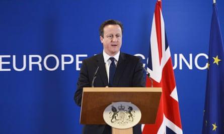 David Cameron European Union