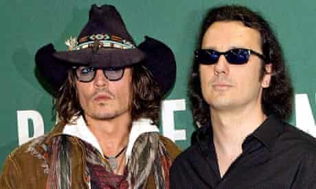 Damien Echols with West Memphis Three supporter Johnny Depp.