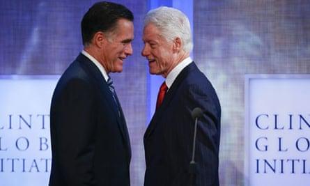 Mitt Romney and Bill Clinton, Clinton Global Initiative 2012