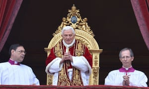 Pope Benedict XVI delivers his Christmas blessing from St Peter's Basilica at the Vatican.