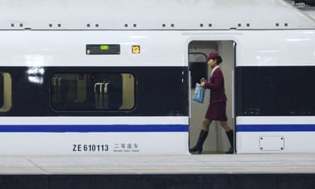 Bullet train at Beijing west railway station