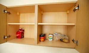 A bare kitchen cupboard