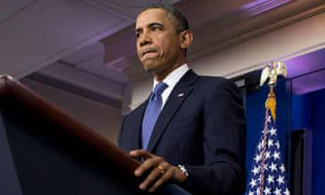 President Barack Obama gives a statement on the fiscal cliff negotiations on Friday.