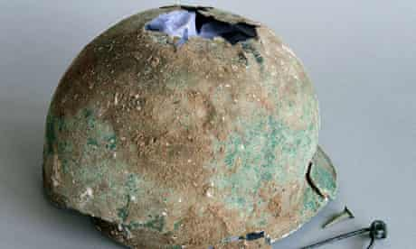 An extremely rare Iron Age helmet from near Canterbury, Kent,