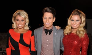 Billie Faiers, Joey Essex and Sam Faiers assmeble for TOWIE Live on Monday evening.