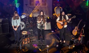 The Staves on stage at the Other Voices music festival