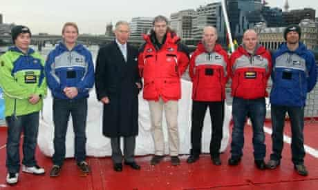 Prince of Wales with Sir Ranulph Fiennes Coldest Journey on Earth expedition
