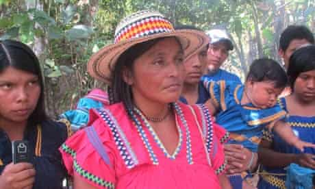 Silvia Carerra, the newly elected leader of Panama's indigenous Ngabe-Bugle people