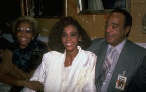 Whitney Houston with her parents