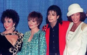 Whitney Houston with Michael Jackson