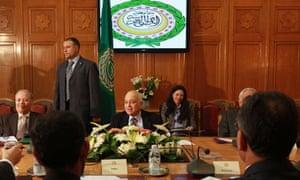 Arab ambassadors to UN at the Arab League