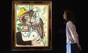 Pablo Picasso's Couple, le baiser at Tate Britain
