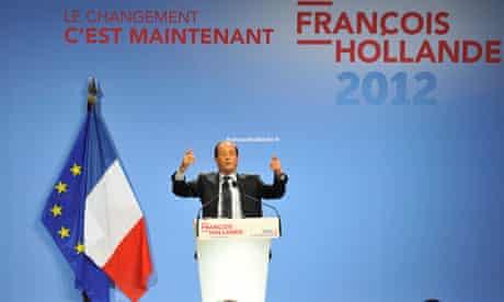 Francois Hollande campaigns