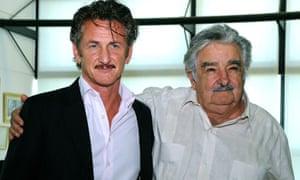 Sean Penn with Uruguay president Jose Mujica