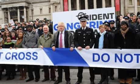 Boris Johnson and Bernard Hogan-Howe launch the gang crime command
