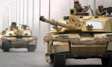 British Challenger 2 tanks in Iraq