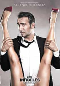 Jean Dujardin in one of the controversial posters for Les Infidèles.