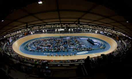 The Olympic velodrome in London