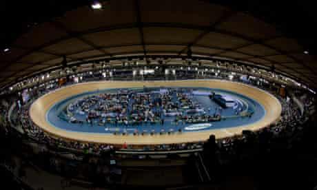 The Olympic velodrome in London