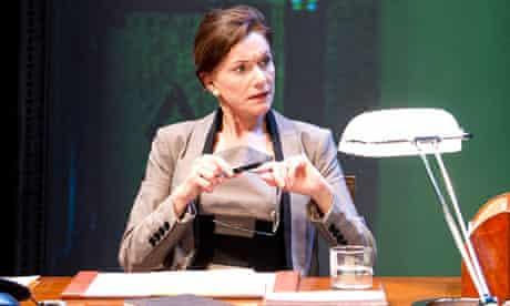 Belinda Lang as the prime minister in David Greig's The Letter Of Last Resort.