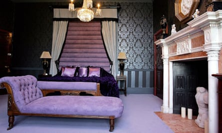 A bedroom in Emma Harrison's home, Thornbridge Hall