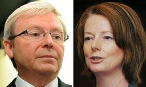 Kevin Rudd and Julia Gillard
