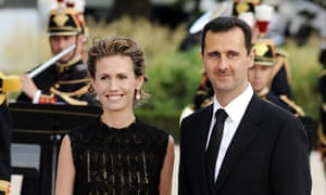 Asma Assad with her husband in 2008