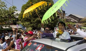 Aung San Suu Kyi on the campaign trail