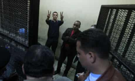 Egyptian defendants at Cairo trial
