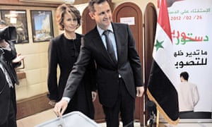 President Bashar al-Assad's votes at referendum, 26 Feb 2012