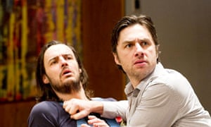 Lacking punch … Paul Hilton (Myron Dunlap) and Zach Braff (Charlie Bloom) in All New People