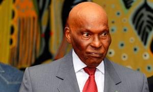Semegal president Abdoulaye Wade