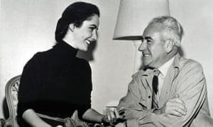 Elizabeth Taylor with her father Francis