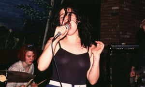 Kathi Wilcox of Bikini Kill at Wetlands in 1994