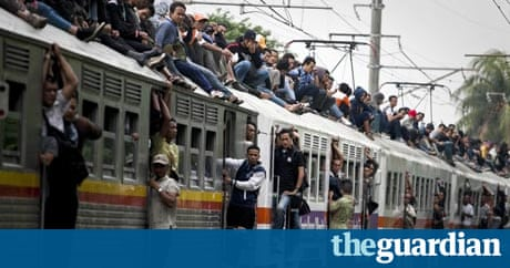 Roof justice as Indonesian rail surfers face the brushoff  World news  The Guardian
