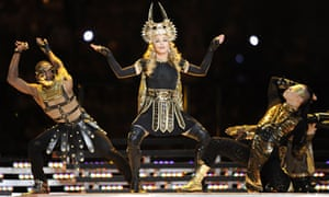 Madonna at the NFL Super Bowl XLVI half-time show