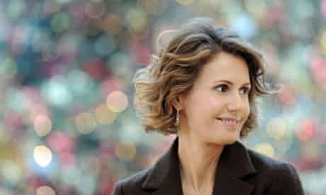 Syrian president Bashar al-Assad's wife Asma