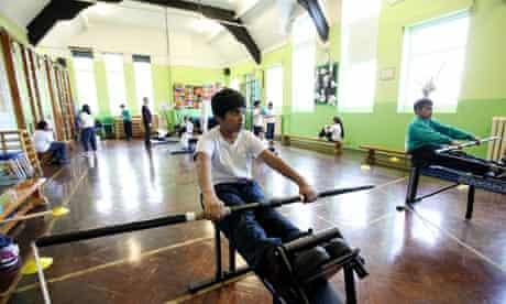 Pupils in a PE class at Langdon Park school in Poplar, east London