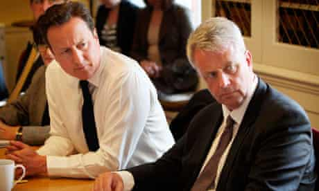 David Cameron and Andrew Lansley