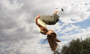 Girl Doing Somersaults