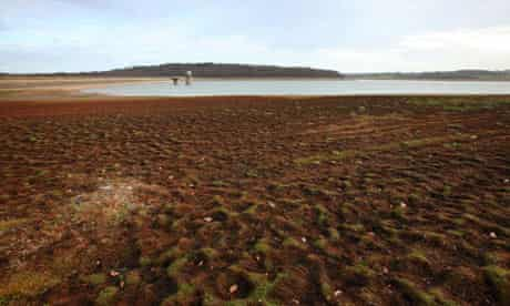 Bewl Water in Kent, at drought levels