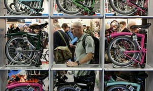 Brompton bikes at the London Bike Show at the ExCeL centre