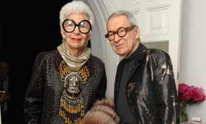 Iris Apfel with her husband Carl in 2008