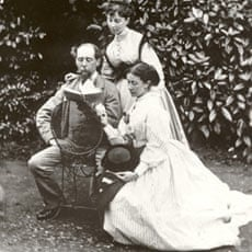 Charles Dickens reading to his daughters at Gad's Hill Place.