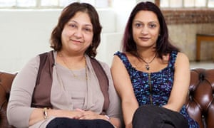 Nina Shivji with her mother