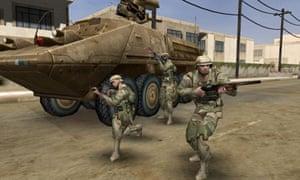 A screenshot from a Kuma\War game.
