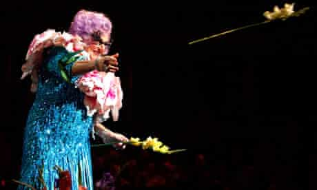 Dame Edna at the Last Night of the Poms, 2009