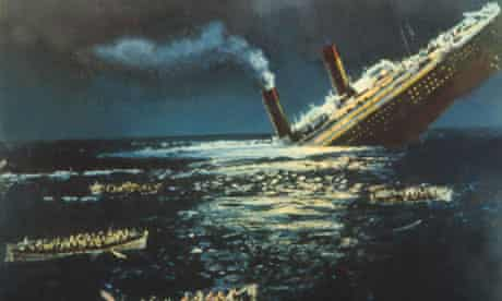 A still from A Night to Remember, 1958 film about the Titanic