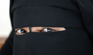 A woman wearing a niqab, or full veil