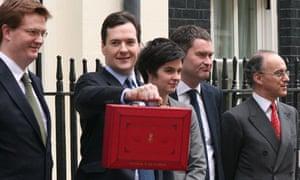 George Osborne with Treasury team
